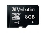Карта памяти Verbatim microSDHC 8GB Class 4 (44018)