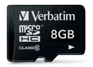 Карта памяти microSDHC VERBATIM 8 ГБ (44012)
